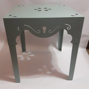 Pier 1 Table Moroccan Mint Green side table